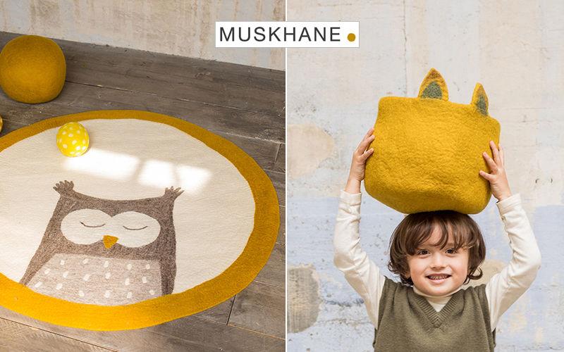 MUSKHANE Alfombra para niño Decoración infantil El mundo del niño   |