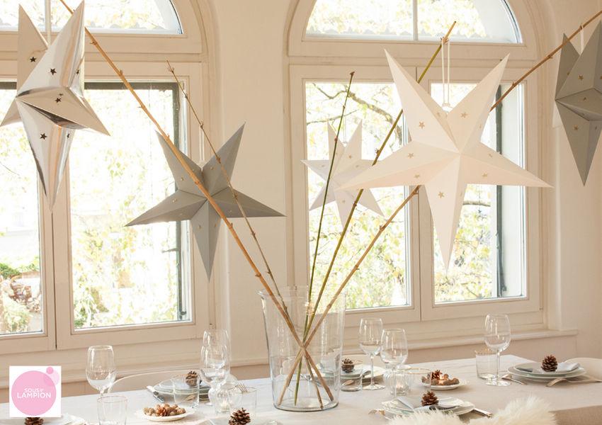 SOUS LE LAMPION Estrella de Navidad Decoración y motivos navideños Navidad y Fiestas  |