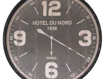 Antic Line Creations - pendule murale hôtel du nord 89cm - Reloj De Pared