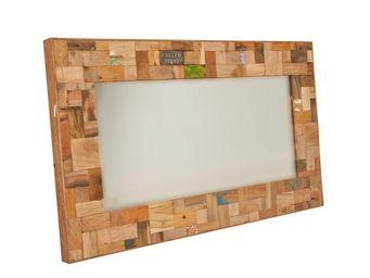 WHITE LABEL - miroir 120 cm - industry - l 120 x l 6 x h 70 - bo - Espejo
