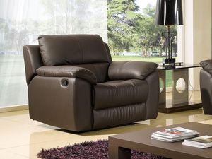 WHITE LABEL - fauteuil cuir relaxation giorgina - Sillón