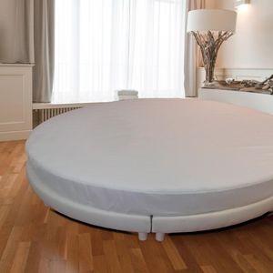 Vosgia Protector de colchón de cama redonda