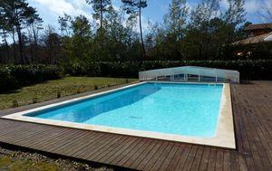 Abri Integral Cobertizo de piscina rodable o telescópico