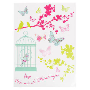 MAISONS DU MONDE - sticker air de printemps - Adhesivo