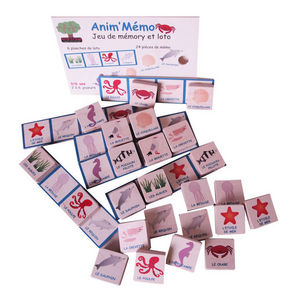 ANIM'EN BOIS - jeu de mémory et loto anim'mémo mer (3-6 ans) - Juguete Antiguo