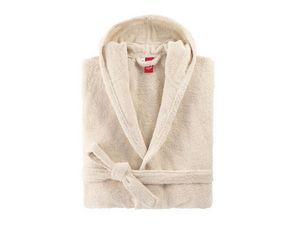 BLANC CERISE - peignoir à capuche - coton peigné 450 g/m² ficell - Albornoz