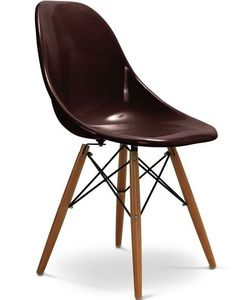 Charles & Ray Eames - chaise chocolat design eiffel sw charles eames lot - Silla De Recepción