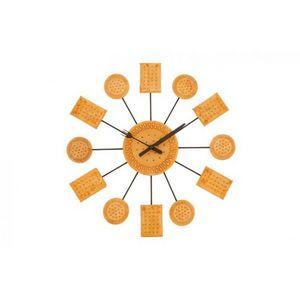 INVOTIS - horloge murale biscuit - Reloj De Pared
