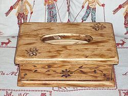 DECO CHALET MONTAGNE - boite a mouchoirs artisanal - Caja De Pañuelos