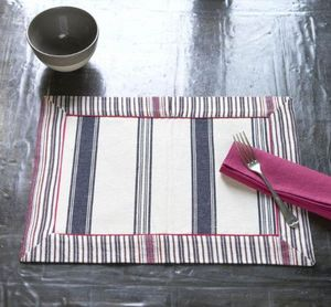 A CASA BIANCA - arezzo navy placemat - Mantel Individual