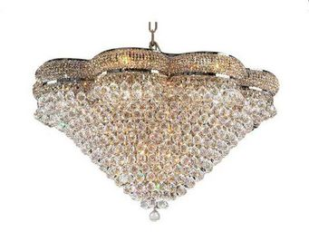 ALAN MIZRAHI LIGHTING - crystal golden perles - Araña