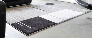WHITE LABEL - samoa design tapis patchwork gris 160x230 cm - Alfombra Contemporánea