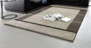 WHITE LABEL - samoa design tapis patchwork taupe 160x230 cm - Alfombra Contemporánea
