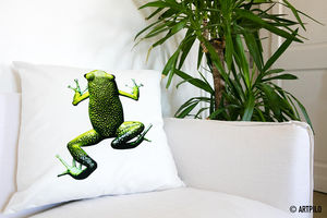 ARTPILO - frogs - Funda De Cojín