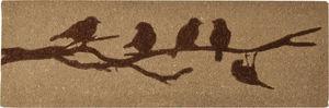 BEST FOR BOOTS - paillasson beige oiseaux sur branche en coco 120cm - Felpudo