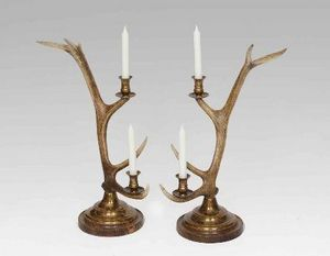 Clock House Furniture - candlestick, 2-arm brass - Candelero