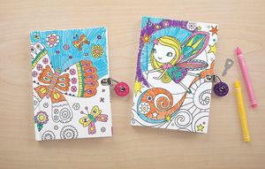 BERTOY - locked diaries butterfly - Cuaderno Para Colorear