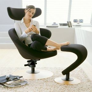 4-Pieds - fauteuil de relaxation peel 2 - Sillón Y Puf