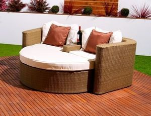 Abode Interiors - garden rattan valentine sofa natural - Tumbona Doble