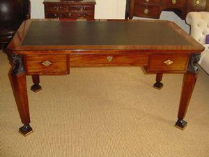 Brookes-Smith - an empire revival mahogany writting table c.1860 - Mesa Escritorio