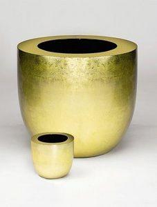 DESIGNER PLANTERS - gold leaf finished - Maceta Para Flores