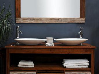 SANITECK - meuble de salle de bain en teck new savanah 140 - Mueble De Ba�o Dos Senos