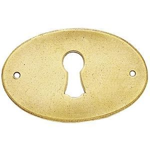 FERRURES ET PATINES - entree de tiroir ovale en laiton style louis phili - Entrada De Llave