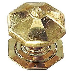 FERRURES ET PATINES - bouton de porte avec rosace en laiton pour porte d - Botón De Puerta