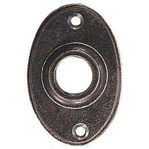 FERRURES ET PATINES - porte bequille ovale en fer vieilli pour porte d' - Porta Muletas