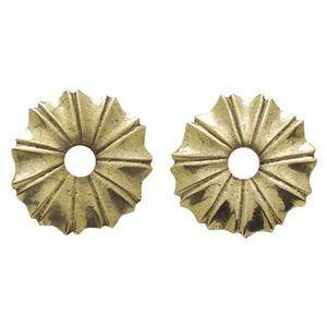 FERRURES ET PATINES - rosace de meuble ronde en bronze style louis xiv d - Roset�n De Puerta