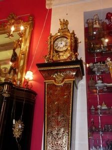Art & Antiques - cartel boulle et sa gaine estampillé baltazar con - Reloj Cartel