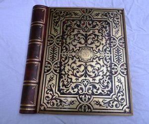 Art & Antiques - porte documents faux livres en marqueterie boulle - Porta Documentos