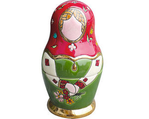 EMAUX DE LONGWY 1798/FRAGRANCE - poupée russe g.m. (petrouchka) - Muñeca Rusa