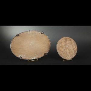 Expertissim - deux surtouts de table à fond de miroir - Centro De Mesa