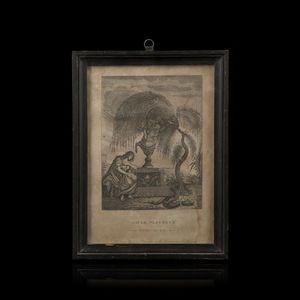 Expertissim - d'après crussaire. gravure à l'urne mystérieuse - Grabado