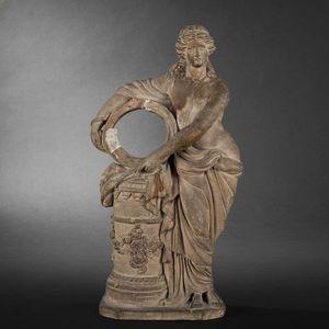 Expertissim - statuette en terre cuite du xixe siècle - Escultura