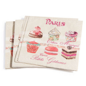 Maisons du monde - serviettes maître pâtissier x20 - Servilleta De Papel