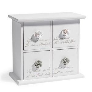 Maisons du monde - boîte 4 tiroirs rosa - Joyero