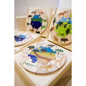 ANIM'EN BOIS - puzzle milieu naturel savane (2-5 ans) - Juguete De Madera