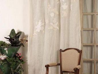 Coquecigrues - rideau brodé chatou - Cortina Confeccionada