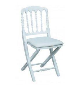 DECO PRIVE - chaise napoleon iii blanche pliante - Silla Plegable