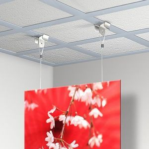 NEWLY - kit accroche plafond centrale (accroche x 2 + câb - Varilla Para Colgar Cuadros