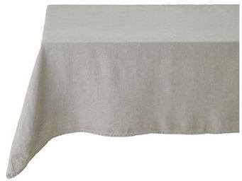 Athezza Home - nappe lin lav� beige 150x250cm - Mantel Rectangular