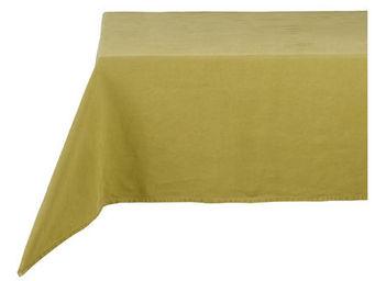 Athezza - nappe lin lav� vert anis 150x250cm - Mantel Rectangular