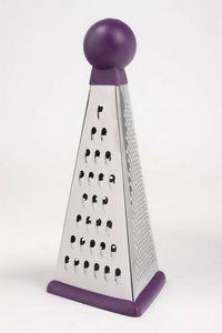 WHITE LABEL - râpe multi-fonction pyramide en inox et rubber - Rallador De Verduras