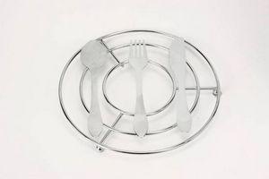 WHITE LABEL - dessous de plat couverts en inox chromé - Salvamantel