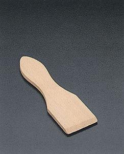 WHITE LABEL - spatules raclettes bois x 6 - Espátula