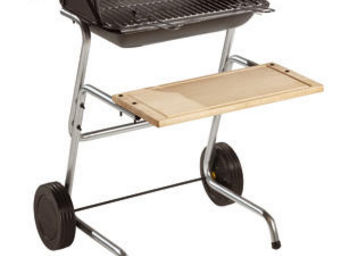 INVICTA - barbecue grill panama en fonte et bois 66x76x90cm - Barbacoa De Carbón