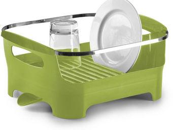 Umbra - egouttoir à vaisselle vert avec bec de drainage am - Escurridor