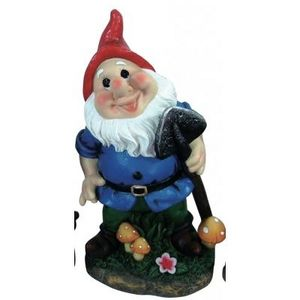 CODEVENT - statuette nain de jardin pelle - Enano De Jardín